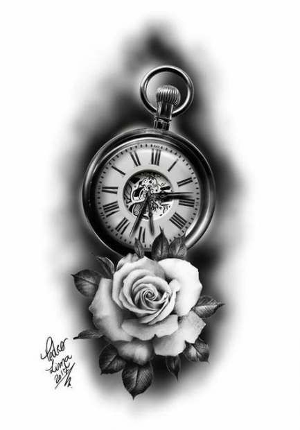 41 Super Ideas Tattoo Compass Clock Drawings #tattoo