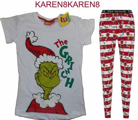 The Grinch Christmas Pyjamas Great for Christmas Holidays! karen8karen8 on  ebay 39eddee84