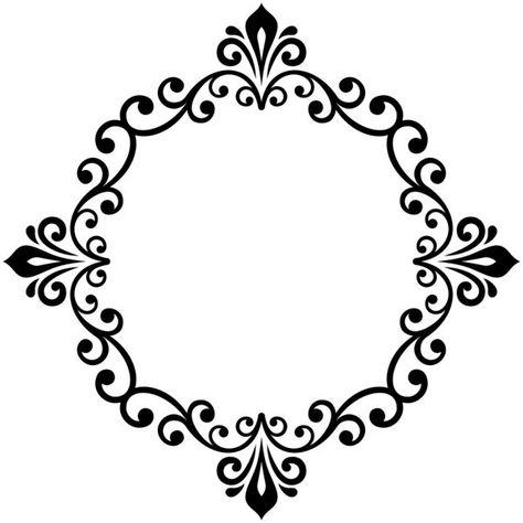 Quadro Redondo De Vetores Modernos Florais Ilustracao De Stock Arabesco Floral Molduras Vintage Brasao Casamento