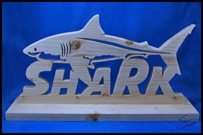 Sea Creatures embellishment Sharks Wooden MDF Shark shape Shark Craft shape
