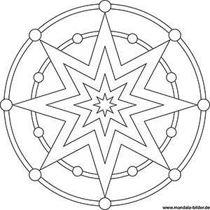 Mandala Grosser Stern Ausmalbilder Ausmalbild Stern Malvorlage Stern Sterne Basteln Vorlage