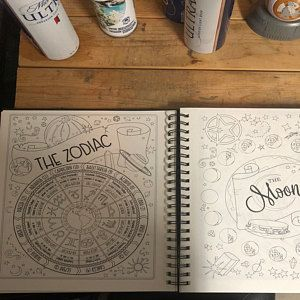 Planner For A Magical 2020 Printable Pdf Grimoire In 2020 Book Of Shadows Coloring Books Planet Colors