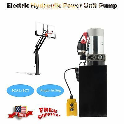 Ad Ebay Url Dc 12v Hydraulic Pump For Dump Trailer 8 Quart Metal Single Acting 12 Volt Mps Dump Trailers Hydraulic Pump Hydraulic