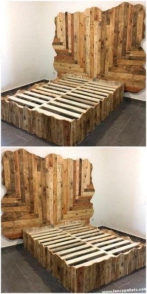 Amazing Diy Pallet Bed Diy Pallet Furniture Diy Pallet Bed Wood Pallet Beds