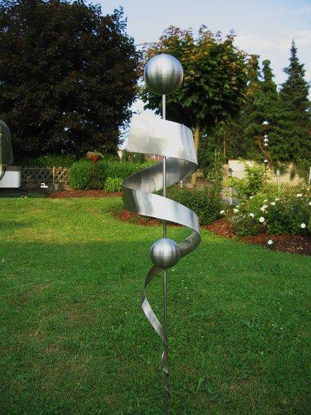 Skulpturen Stele Edelstahl Skulptur Gartendeko Rostfrei 31 Ein Designerstuck Von Gartenkult Bei Dawanda Garten Deko Skulpturen Skulpturen Garten