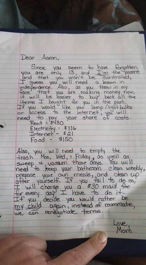 Mom Writes Son A Note About His Strict Punishment, Then Accidentally Makes It Public On Facebook