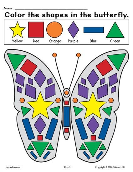Printable Butterfly Shapes Coloring Pages Shape Coloring Pages Butterfly Printable Butterfly Lessons