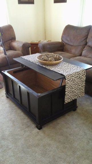 Turn An Old Toy Chest Into A Lift Top Coffee Table