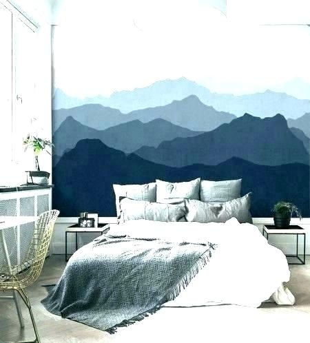 24 Awesome Artistic Wall Master Bedroom Ideas Wall Art Wallpaper Bedroom Wall Mountain Mural