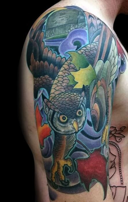 12 Japanese Owl Tattoo Designs And Ideas Petpress In 2020 Owl Tattoo Owl Tattoo Design Tattoo Designs