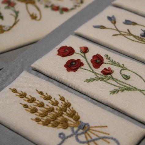 In a A Wheat Field / In Un Campo di Grano Embroidery Book by Elisabetta Sforza from Italy