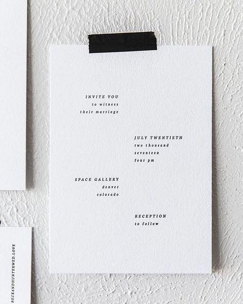 10 Chic Minimalist Wedding Invitations