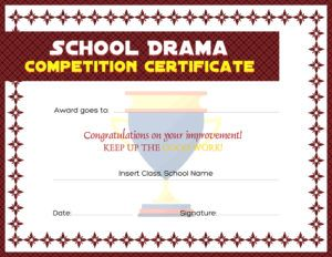 School drama competition award certificate template for ms word school drama competition award certificate template for ms word download at httpcertificatesinnschool drama competition award certificates yadclub Gallery