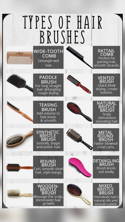 Different types of hair brushes #hair #brushes #hairstyle #colour #hair #hairtype #long #short #new