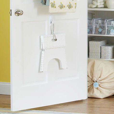 Slip a slim step stool inside the linen closet so you can easily make use of the top shelves: http://www.bhg.com/decorating/storage/organization-basics/ways-to-reduce-clutter/?socsrc=bhgpin021015topshelfsolution&page=3