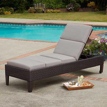Agio Costco Cordova Woven Chaise Lounge Costco Patio Furniture Outdoor Lounge Costco