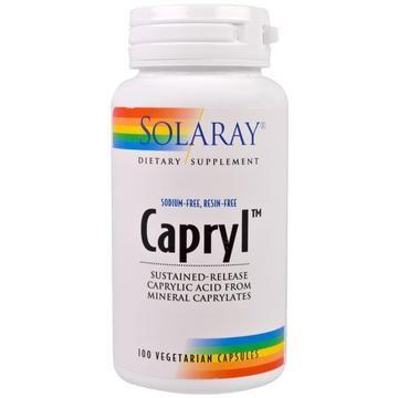 Solaray Capryl Sustained Release 100 Veggie Caps Veggie Caps Vitamins For Kids Vitamins For Women