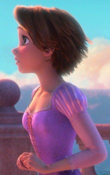 Pin By Lu Ponichan On Hair In 2020 Rapunzel Short Hair Short Hair Styles Rapunzel Hair
