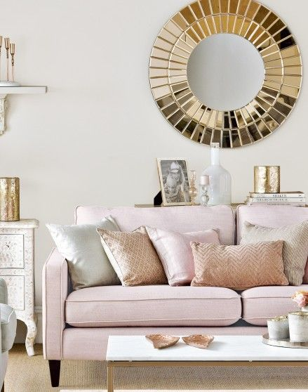 Looking For Living Room Ideas Be Inspired By This Neutral With Rose Gold And Pink Accents Find More Design Decorating