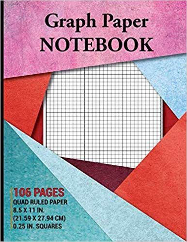 Amazon Com Graph Paper Notebook Grid Paper Notebook Quad Ruled 106 Pages Large Letter 8 5 X 11 25 In Graph Paper Notebook Grid Paper Squared Notebook