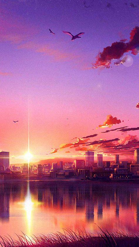 Anime sunset scene b Iphone Wallpapers Hd - Best Home Design Ideas