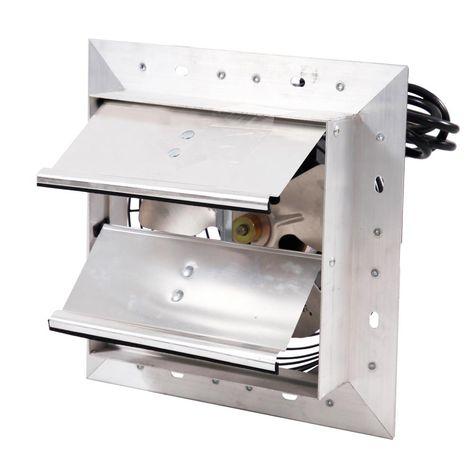 Hessaire 8 In 300 Cfm Power Shutter Mounted Variable Speed