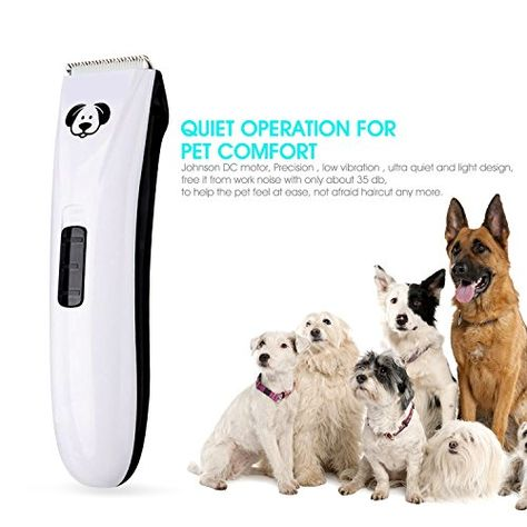 Hiraliy Low Noise Rechargeable Cordless Pet Cats And Dogs Grooming Clippers Professional Pet Hair Clippers Pet Grooming Kitwh Dog Grooming Clippers Cat Grooming