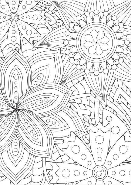 Best Coloring Illustrations Royalty Free Vector Graphics Clip Art Istock In 2020 Pattern Coloring Pages Coloring Books Mandala Coloring Pages
