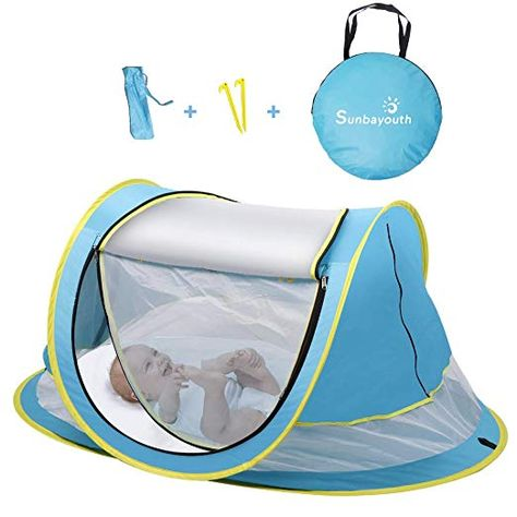 3PCS, Blue MIXMAX Baby Travel Bed Portable Foldable Crib Mosquito Net Folding Baby Cots