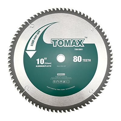 Tomax 10 Inch 80 Tooth Tcg Aluminum And Non Ferrous Metal Saw Blade With 5 8 In 2020 Non Ferrous Metals Saw Blade Circular Saw Blades