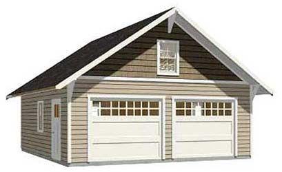2 Car Pdf Garage Plans D No 576 14 24 X 24 By Behm Design In 2020 2 Car Garage Plans Garage Design Detached Garage Designs