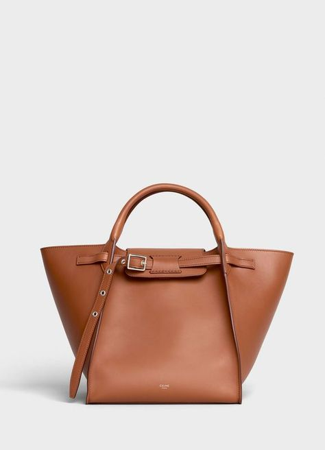 Small Big Bag with long strap in smooth calfskin | CELINE - see large version in the first place