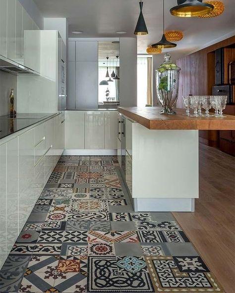 Cocina Blanca Con Azulejos Vintage Interiores Hogar