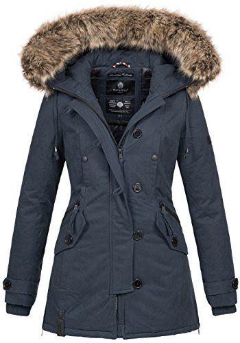 Navahoo Damen Designer Winter Jacke warme Winterjacke Parka