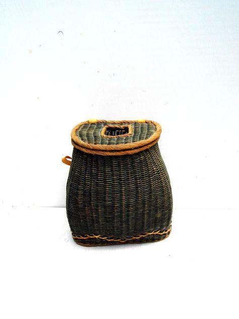 Vintage Fishing Creel Wicker Fishing Creel by PaperWoodVintage, $109.00