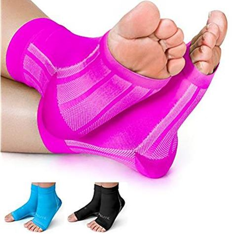 8d40ed4cc4 Premium Compression Socks- Highest Medical Grade for Serious Pain Relief-  Foot Sleeves Combine Achilles Tendon Support + Plantar Fasciitis Night  Splint + ...