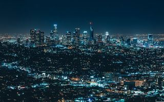 Lenovo Laptop Beautiful Wallpapers Top4um City View Night Night Architecture Los Angeles Wallpaper