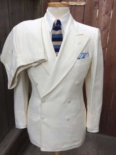 Vintage 1930 S 1940 Palm Beach Double Ted Suit In 2018 Blithe Spirit Suits Mens Fashion