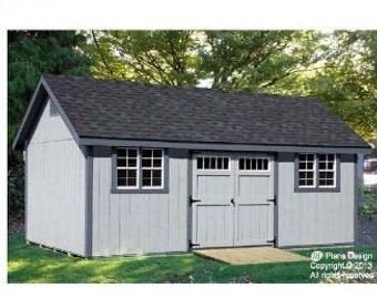12 X 16 Cottage Cabin Shed With Porch Plans Etsy In 2020 Shed Design Building A Shed Shed With Porch
