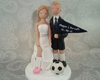 Customized Soccer Theme Wedding Cake Topper