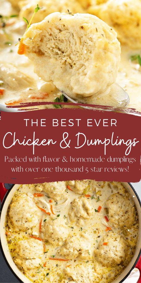 Old Fashioned Chicken & Dumplings - Fluffy Homemade Dumplings!