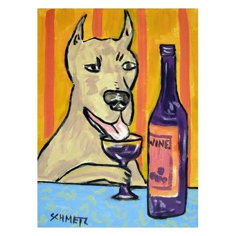 Chow Chow at the wine bar 8 x 10 dog art print poster