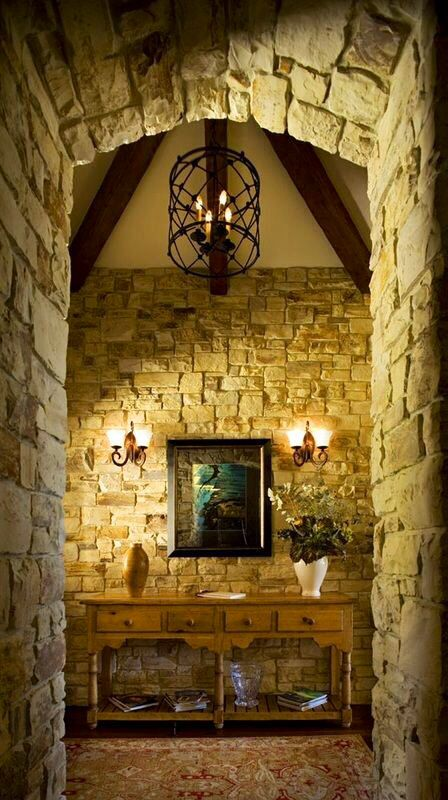 186 best rooms with stone walls images on Pinterest | Rock wall ...
