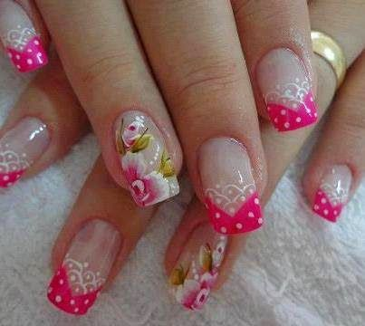 de uas uas decoradas diseo de uas con gel uas decoradas pinterest unique nail designs nail flowers and colorful nails with uas dibujos with uas dibujos - Dibujos Uas