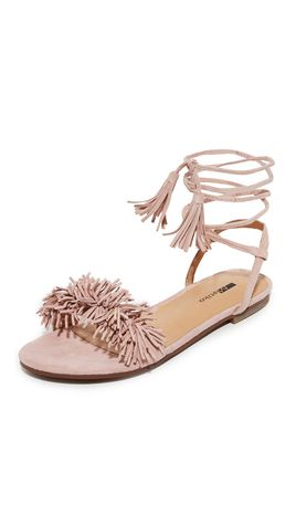 4030d42f3b7f Steve Madden Women s Sweetyy Lace-Up Flat Sandals ( 89) ❤ liked on Polyvore  featuring shoes