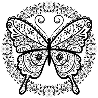 25++ Butterfly mandala coloring pages for kids inspirations