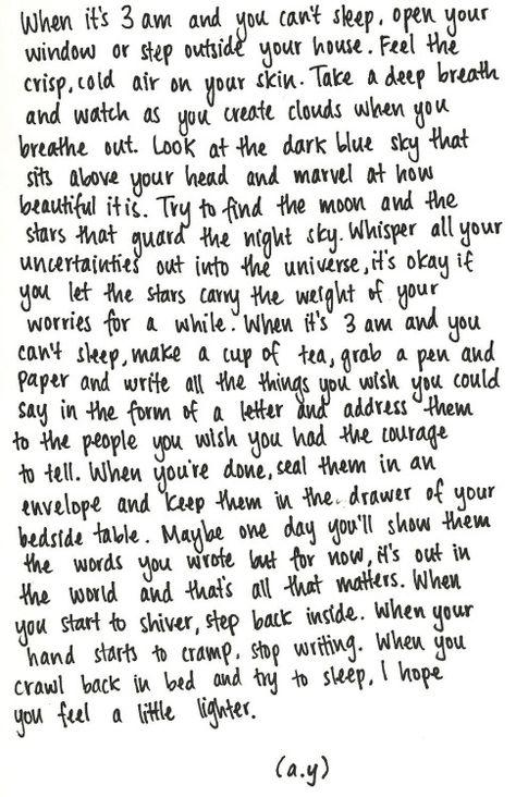 quote, sleep, and write image
