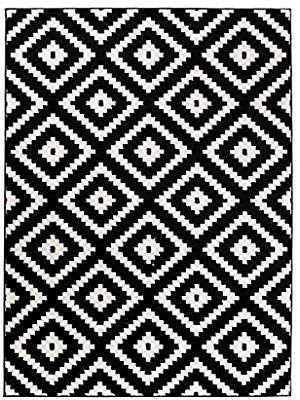 Tapis De Salon Moderne Collection Marocaine Couleur Noir Blanc Motif Geometrique Treillis Meilleure Qualite Diff Tapis Art Deco Tapis Noir Et Blanc Tapis