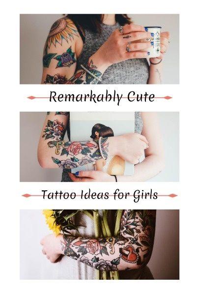 Online Cute Tattoo Ideas Pinterest Post Template Find Out More Fotor Design Maker Cute Tattoos Graphic Design Photo Design Maker