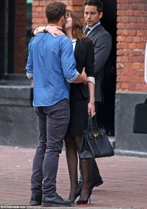 First picture of Dakota Johnson & Jamie Dornan on set of Fifty Shades Freed (June